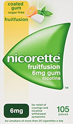 Nicorette 2 mg Fruitfusion Gum - Pack of 105 from Johnson and Johnson