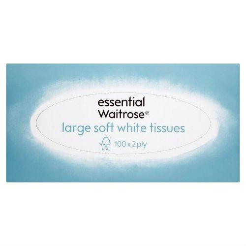 Große Weichen, weißen Gewebe Essential Waitrose 100Pro Pack Fall von 4