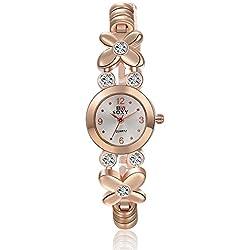 Frau, Quarz Uhren, Mode, Persönlichkeit, Kleeblatt, Metall, W0360