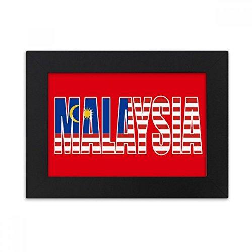 DIYthinker Malaysia Land Flagge Name Desktop-Foto-Rahmen-Schwarz Bild-Kunst-Malerei Passt 10.2 x 15.2cm (4 x 6 Zoll) Bild Mehrfarbig