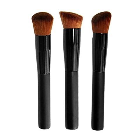 voberry® Femmes Lady maquillage professionnel pinceaux 3Pinceaux pour fond de teint visage Poudre Blush