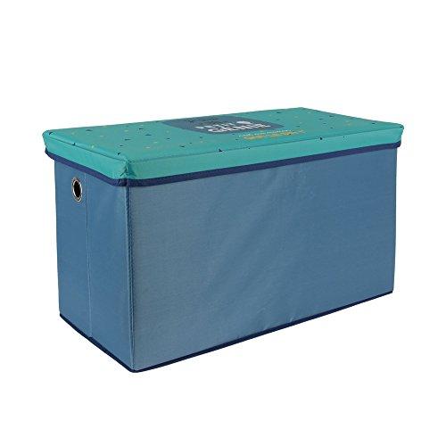 THE HOME DECO FACTORY mo1007Premiumqualität Faltbare Aufbewahrungsbox, MDF, blau, 60x 30x 35cm
