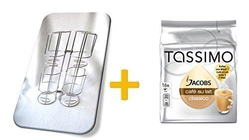 Kapselständer für 32 Kapseln für Kaffee-Pads Tassimo + Jacobs Café Au Lait