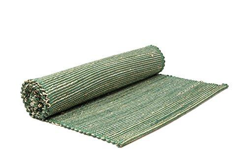 HANDGEWEBT Woven Umweltfreundlich Banana Seil und Jute Tischläufer 33x 182,9cm Küche Esszimmer Home décor-with ein Baumwolle bag-teal grün (Jute-teppich Teal)