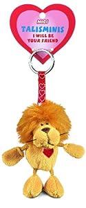 Nici Talisminis 33684 - Llavero con león de peluche, 7 cm, color beige