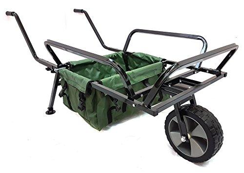 Bison resistente una rueda Pesca carretilla carro de carretilla bolsa
