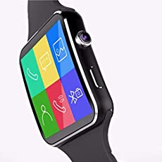 Heypex OC_6 Smart Mobile Feature Wrist Watch with Camera   Sim   Micro SD Card Slot   Calling Function   Anti-Lost Feature Compatible with All Android, iOS & Windows Device (Colour May Vary)