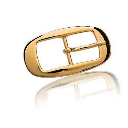 FREDERIC HERMANO Gürtelschnalle Buckle 20 mm Metall gold poliert - Buckle Orlando - Dornschliesse für Gürtel mit 2 cm Breite - goldfarben poliert