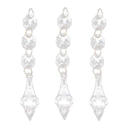 eit Decor Schlafzimmer Vorhang Acryl Kristall Perlen Hause Tür / Vorhang Anhänger Viele Stile (D) (Diy Perlen-tür-vorhänge)