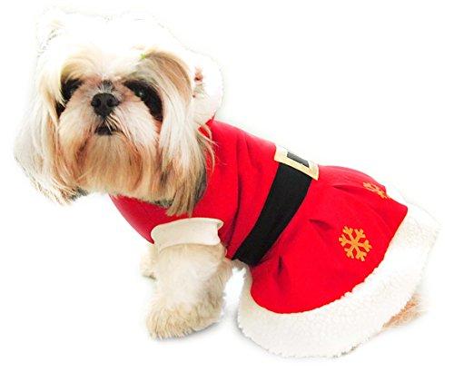Weihnachten Kostüme für Hunde. MISS SANTA (Weihnachtsfrau). Größe 20