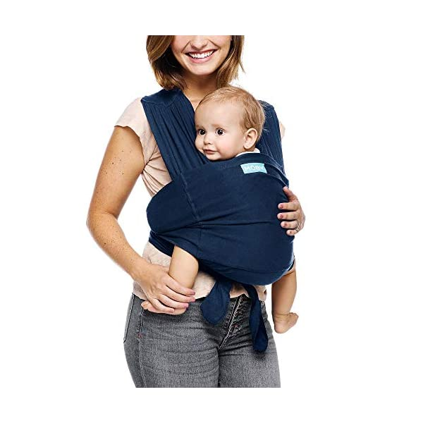 Moby Fit Baby Wrap Carrier In Midnight Blue for Newborn to Toddler Up to 30lbs, Baby Sling from Birth, One Size Fits All, Breathable Stretchy made from 100% Cotton, Unisex Moby One-size-fits-all for babies 8-30 lbs Easy to slip on and adjust for a custom fit Grows with baby, from new-born to toddler 1