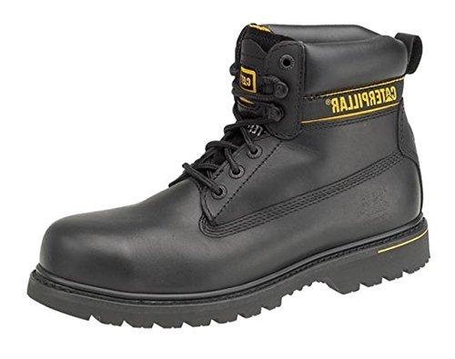 New Mens Caterpillar Holton Chaussures de sécurité pour homme Flex Teci S3 Chaussures en cuir à lacets - Noir - noir,