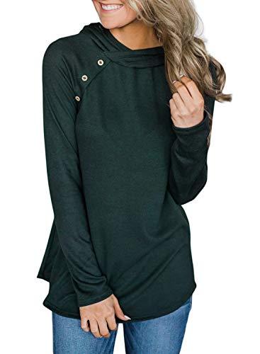 GOSOPIN Damen Pullover Langarm Sweatshirt mit Kapuze Hoodie Herbst&Winter XL