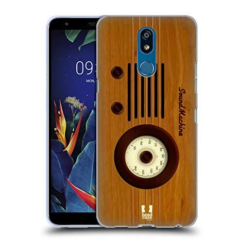 Head Case Designs Klangmaschine Vintage Radio Telefon Soft Gel Huelle kompatibel mit LG K40 / K12 Plus K40 Radio
