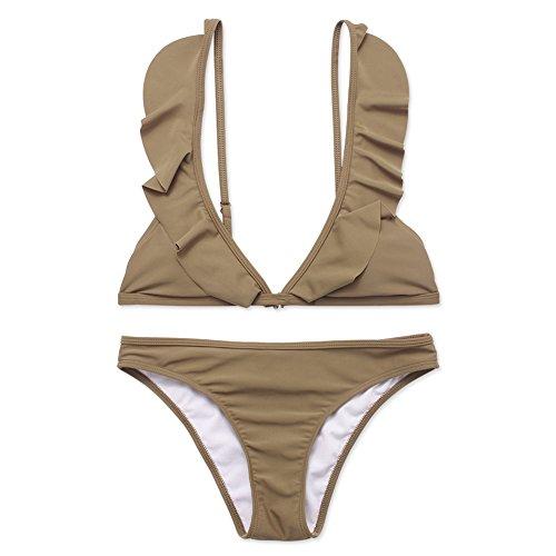 infashionport Damen Bikini-Set Khaki