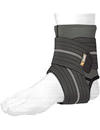 Shock Doctor Chevillère de compression avec support par strap - Protecciones de pie para artes marciales, color negro, talla XL