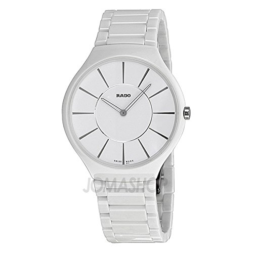 Rado Rado True Thinline White Dial White Ceramic Ladies Watch R27957112
