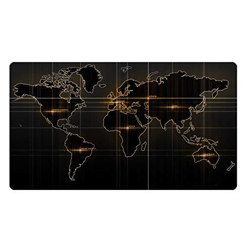 Preisvergleich Produktbild obiqngwi für elektronische Wettkampfsportarten,  Weltkarte gedruckt große Gaming Mouse Pad Tisch Gummi Anti-Rutsch-Matte Dekoration - 800 * 300mm