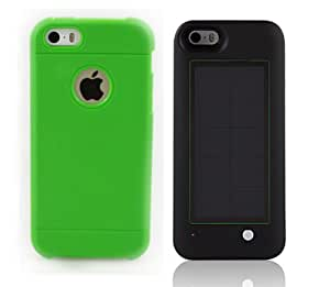 Ultra White Iphone 5c with Green Case 2600Mah Solar charger V3.0 with a choice of Pink Blue Green Black or Yellow Armour cases Solar Charging case with rechargeable power pack included 2 piece kit Back up iOS9 compliant