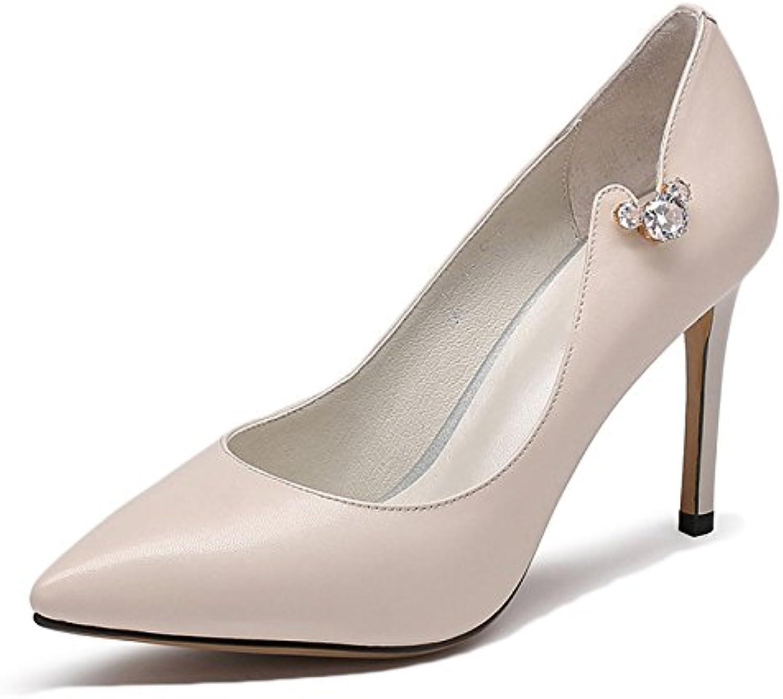 snfgoij mode femme noire sexy talons de chaussures chaussures chaussures chaussures de mariage des femmes travail cour cuir diamo nd chaussures en cuir...b07cll4h41 parent cce259