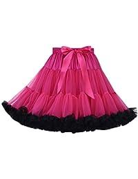 Falda Tutu Mujer Tutú Faldas de Tul Cortas Falda Tul Disfraz Volantes  Fiesta Corta para Bodas d2f0a901f98b