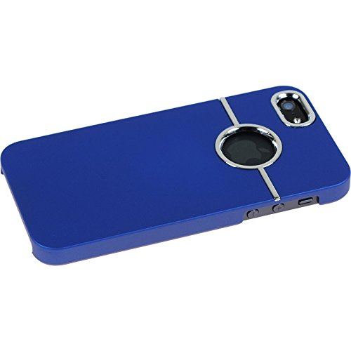 PhoneNatic Case für Apple iPhone SE Hülle rot gummiert Hard-case für iPhone SE + 2 Schutzfolien Blau