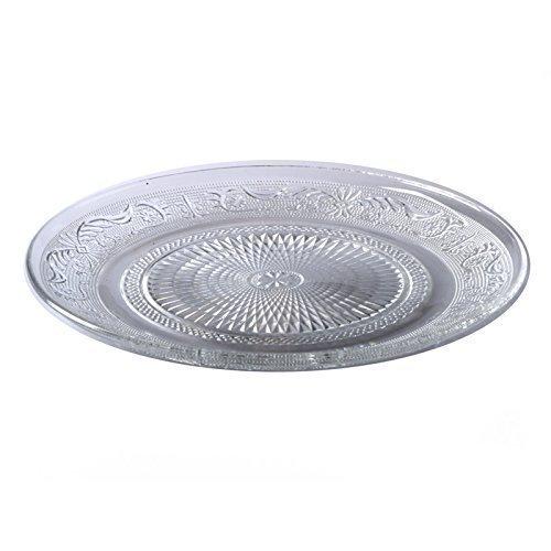 Glasteller Teller Servierteller Kuchenteller Dessertteller Glas Platte (6er Sparset Klein)