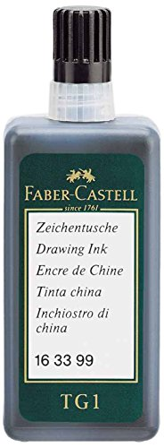 Faber-Castell 163399 - Zeichentusche, 23 ml Flasche