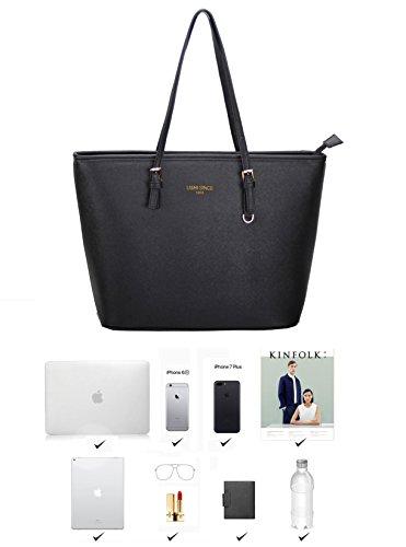 LI&HI Damen fashion elegant Leder Beutel shopper bag Umhängetaschen Schulterbeutel Abendtaschen Clutch - 7