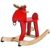 Preisvergleich für Ikea EKORRE–Rocking-Moose, Rot, Gummibaumholz