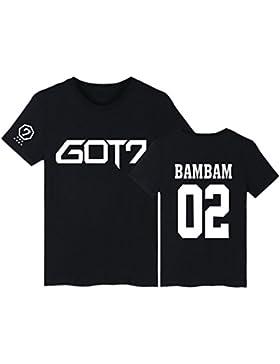 SERAPHY Camiseta Unisex KPOP GOT7 Top de Verano para Hombres/Mujeres JB JinYoung Mark Jackson Youngjae Bambam...