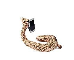Nackenkissen mit Handy Halterung, Reisekissen. Für Erwachsene oder Kinder. Gemütlich sitzen und gemütlich Fernsehen 2 in 1 Flamingo, Giraffe oder Einhorn. Tolles Geschenk (Giraffe)