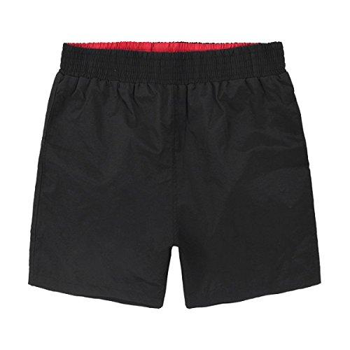 2 Pack Vêtements Hommes Quick Dry Plage Loisirs Couleur Unie Swim Trunk Tailles Et Couleurs Assorties M