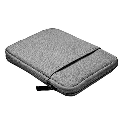 Milnut ebook Reader Tasche 6 Zoll aus Canvas mit Reißverschluss - Weich Baumwolle Schutzhülle Hülle Case Größe 6 Zoll für Tolino/Kindle eReader - Grau