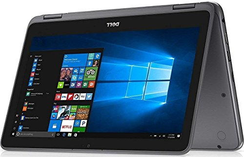 Dell Inspiron 11.6 2-in-1 Convertible Touchscreen Business Laptop/Tablet - AMD Dual-Core A9-9420e 802.11bgn Bluetooth Webcam MaxxAudio Win 10- Red/Gray, RAM/SSD up to 8G RAM 512G SSD