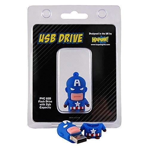 Captain America Marvel Flash Drive-USB Memory Stick Avengers (2GB) Stick Pop