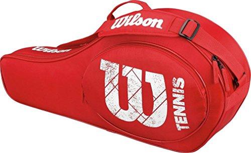 Wilson Schlägertasche Match Junior 3er Racketbag, rot, 68 x 10.2 x 31 cm, 22 Liter, WRZ821603 (Tennis-taschen Wilson)
