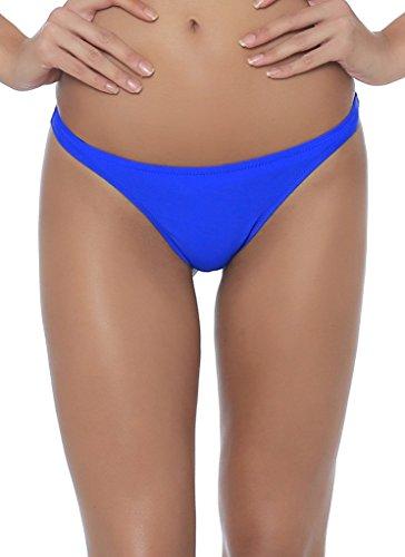 Ecute Damen Brazilian Bikini Slip Badehose Strand Mini Bikinihose Badeanzüge G-String Unterwäsche Blau