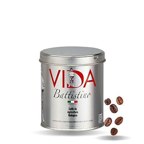 BATTISTINO VIDA - 125g - Café biológico granos (125g * 6 latas)