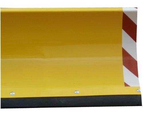 Universal Räumschild Gelb / 200 cm breit + 40 cm hoch / Für Einachser oder Rasentraktor / 3-stufig verstellbar / Inklusive wechselbarer Schürf-Leiste aus Gewebe-Gummi / Mit Reflektoren / Schneeschild Schneeschieber Winterdienst Schneeschaufel
