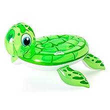 Bestway 41041-18 Inflatable Sea Turtle Pool Float Ride-On, Green, 1.40 m x 1.40 m