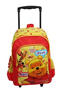 """Winnie the Pooh Trolley Bag 18"""" For Kids India (Red/Yellow)"""