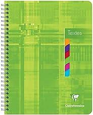Clairefontaine 8756C - Un cahier de texte à spirale 144 pages 17x22 cm 90g avec touches de couleurs détachable