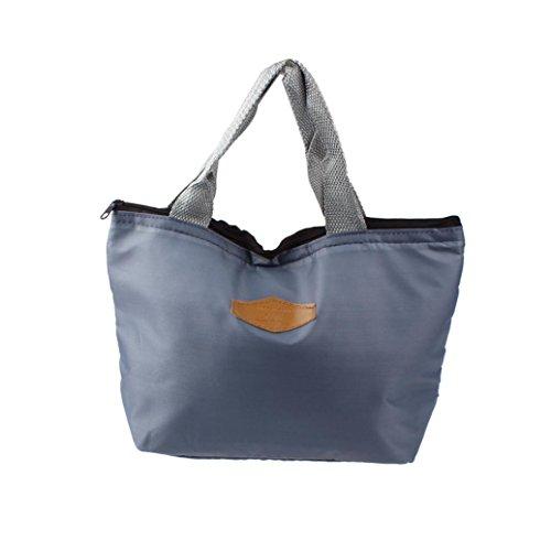 Zolimx Wasserdicht tragbar Picknick Isolierte Lagerung von Lebensmitteln Box Tote Mittagessen Tasche (E) (Tasche Vera Bradley Brieftasche)