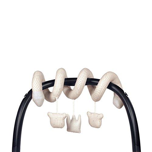 Pasito a Pasito 73617 - Sonajero, diseño oso/corona vichy beige petite etoile