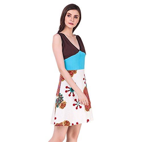 Bluebell Cloud Women's Cotton Dress Multi Color - BB-D3-L