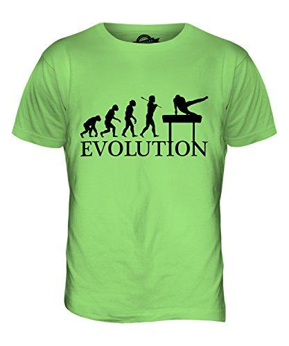 CandyMix Gymnastik Pauschenpferd Evolution Des Menschen Herren T Shirt  Limettengrün