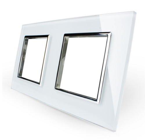 LIVOLO Glas Touch Lichtschalter Funkschalter Steckdosen Wechselschalter uvm in weiß (Nur Rahmen: VL-C7-SR/SR-11)