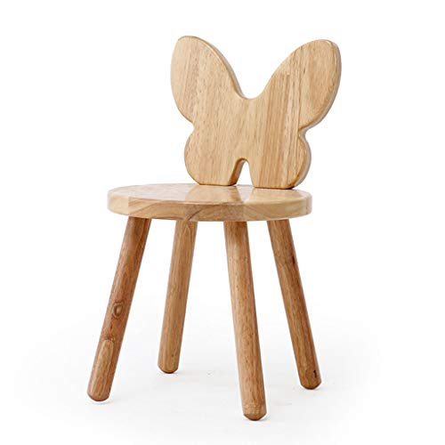 SISIZHANG Hocker massivholz zurück Stuhl Cartoon kleine holzbank heimtextilien hocker Baby Stuhl Schuh Bank Kinder Urlaub geschenklast 150 kg (Color : A, Size : 27 * 28 * 48CM) - Zurück Massivholz