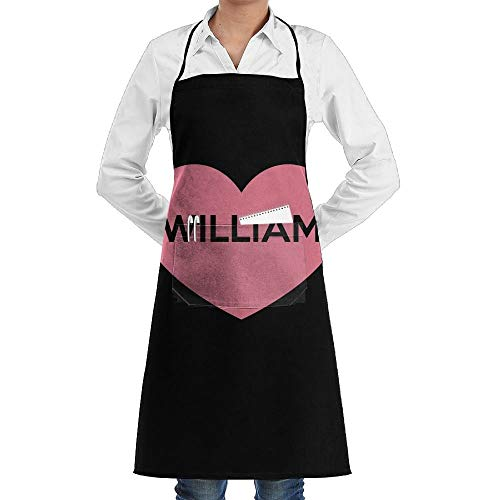 Drempad Premium Unisex Schürzen, Love William Fashion Waterproof Durable Apron with Pockets for Women Men Chef